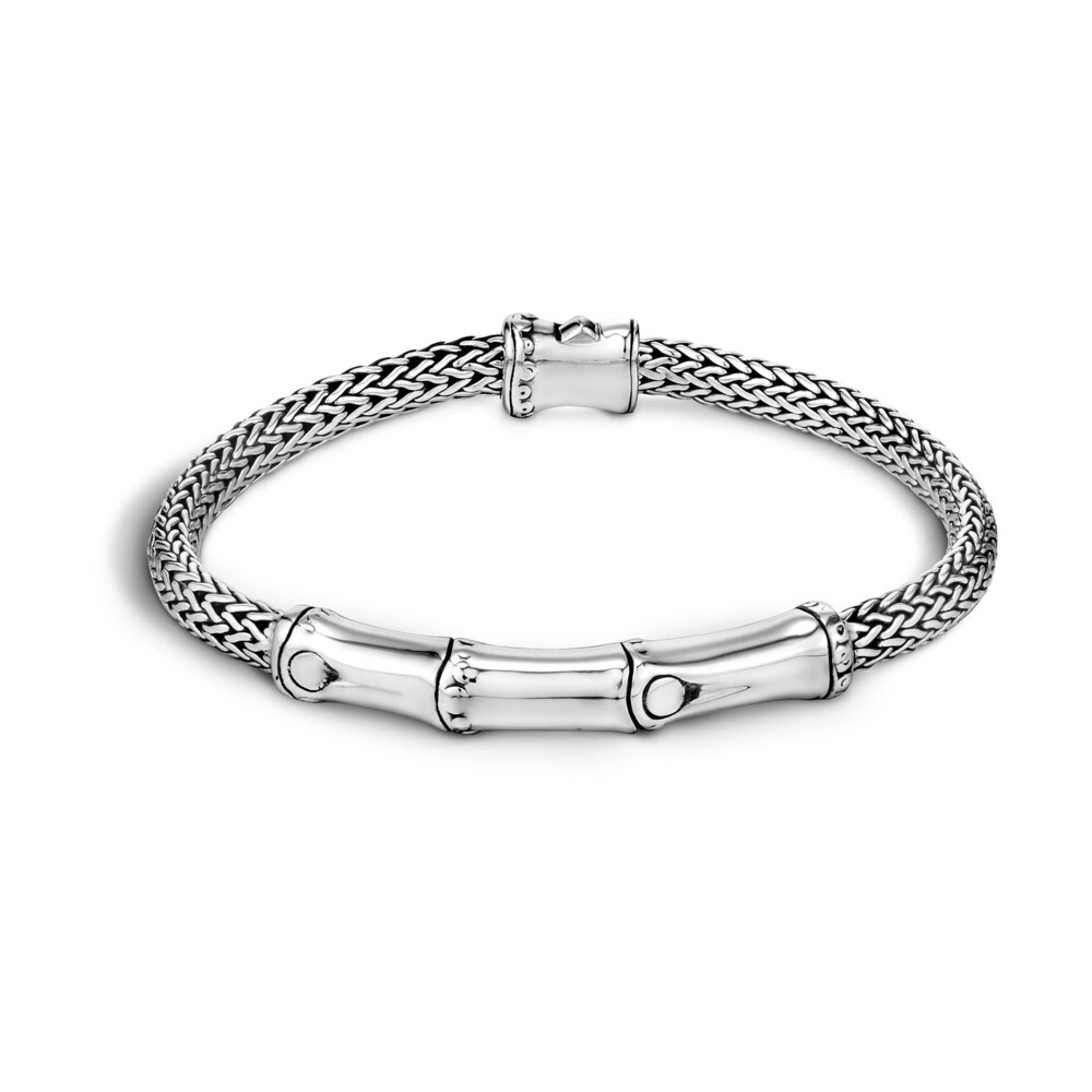 Bamboo Bracelet in Sterling Silver