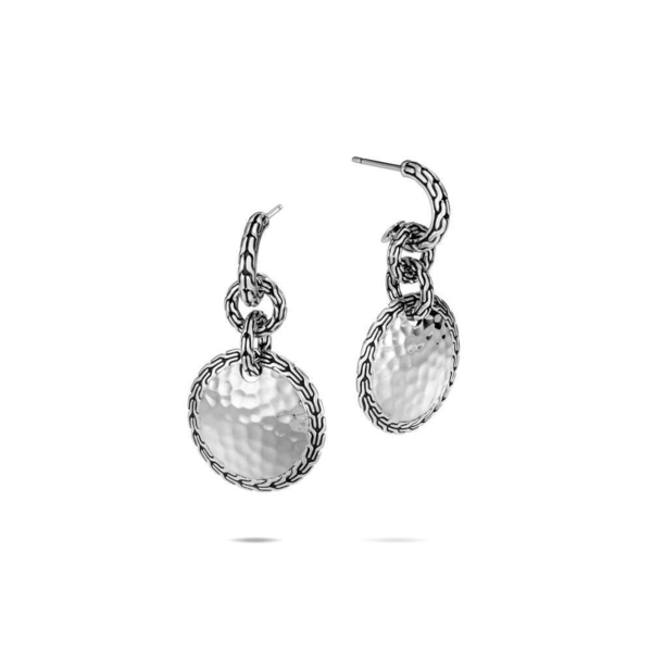 Closeup photo of Classic Chain Drop Earrings Sterling Silver