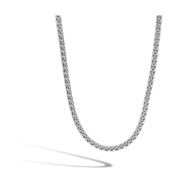 Closeup photo of Classic Chain 3.5MM Woven Necklace in Silver