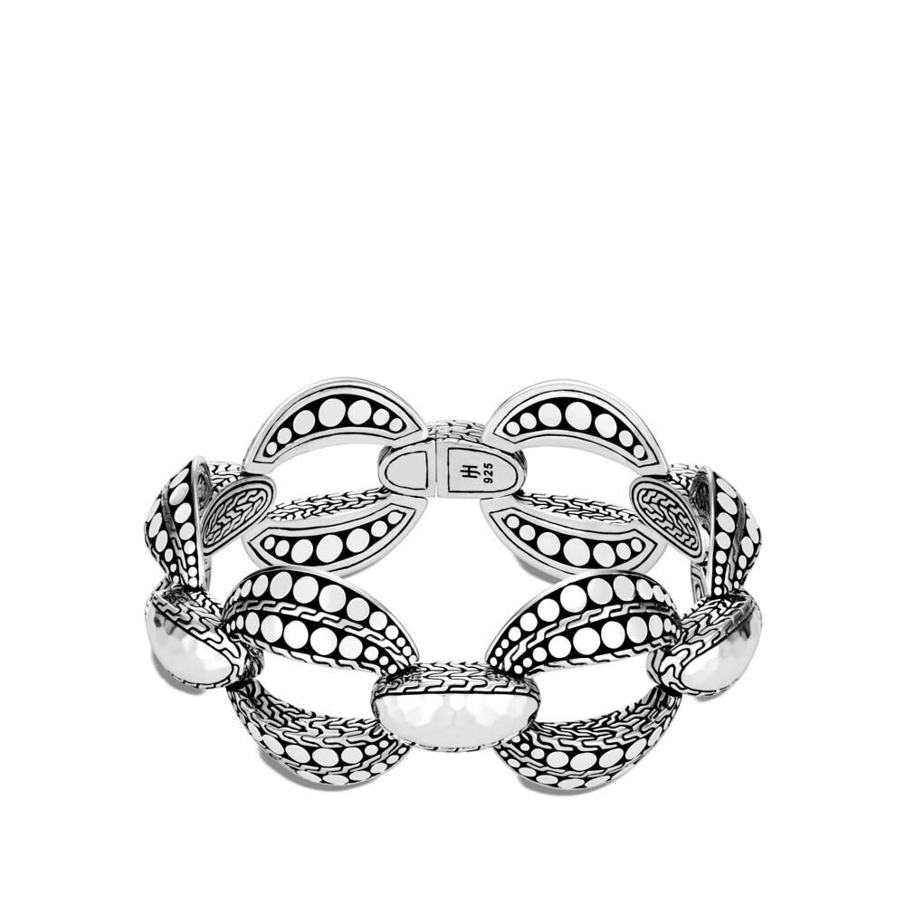 Dot Link Bracelet Sterling Silver