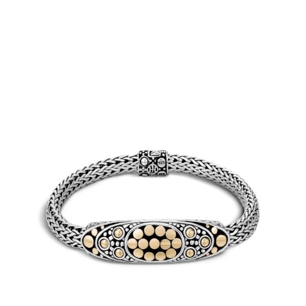 Closeup photo of Dot Bracelet Dot Sterling Silver with 18K Gold