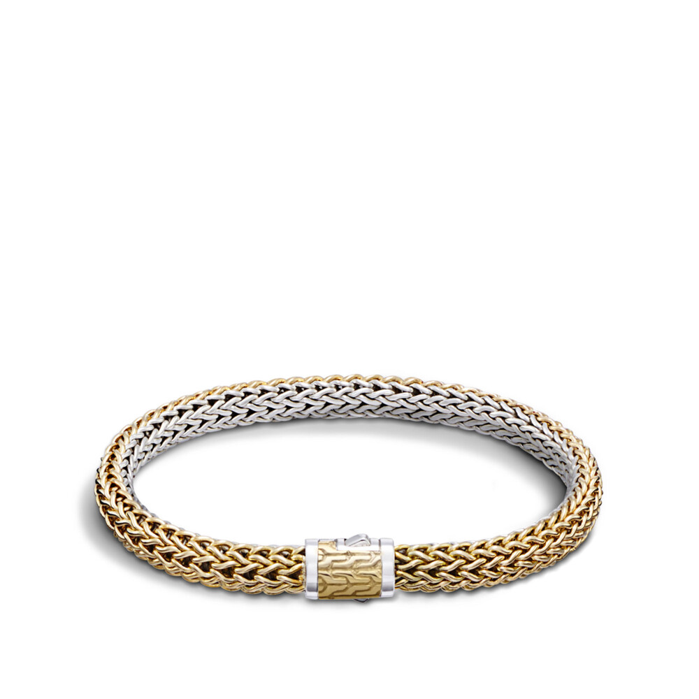Classic Chain Bracelet Sterling Silver with 18K Gold