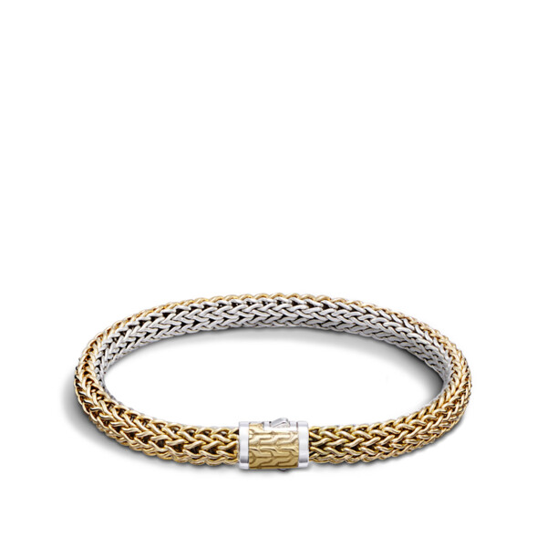 Closeup photo of Classic Chain Bracelet Sterling Silver with 18K Gold