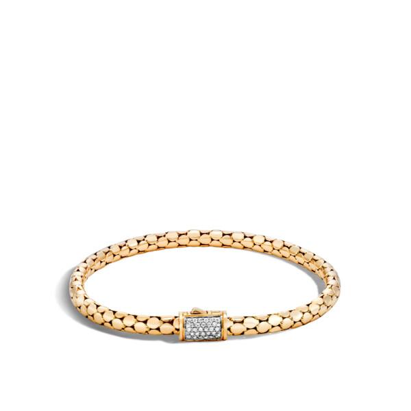 Closeup photo of Dot Bracelet 18K Gold with Diamonds