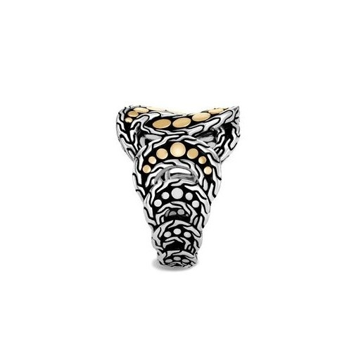 Dot Ring in Silver and 18K Gold