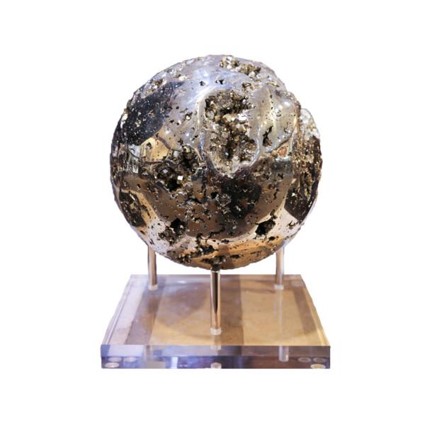 Closeup photo of Peru Pyrite Sphere