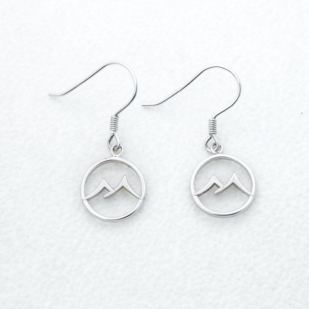 Sterling Silver Mtn Earrings