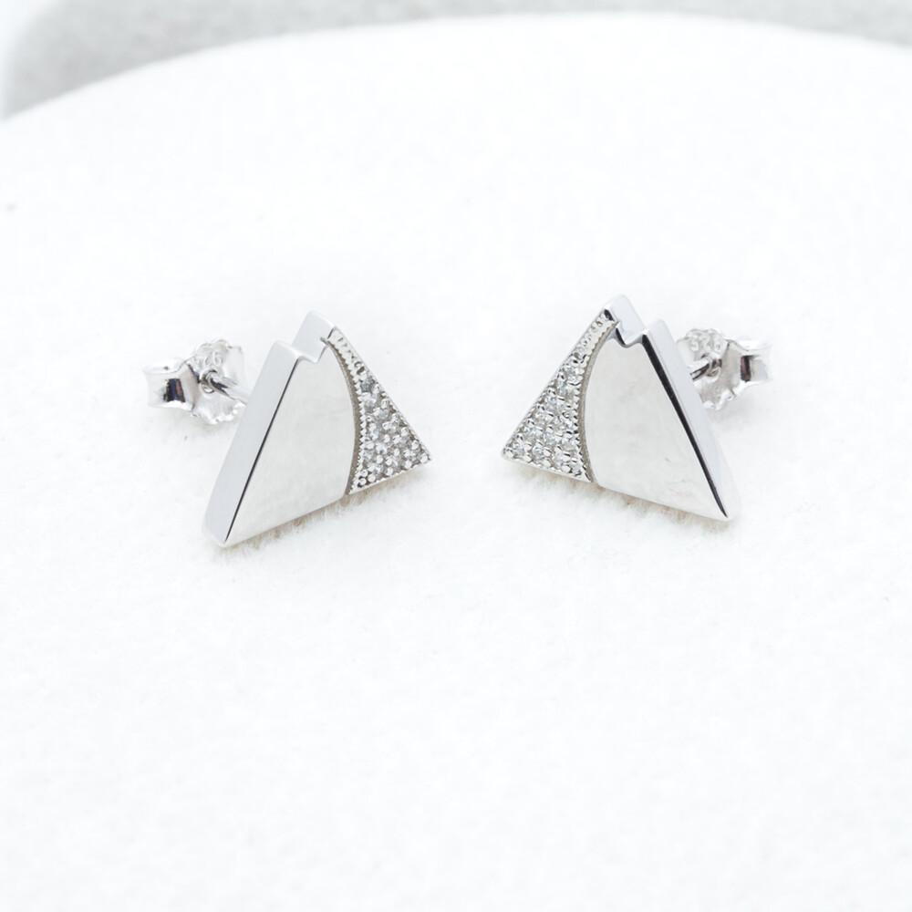 Sterling Silver CZ Mtn Earrings