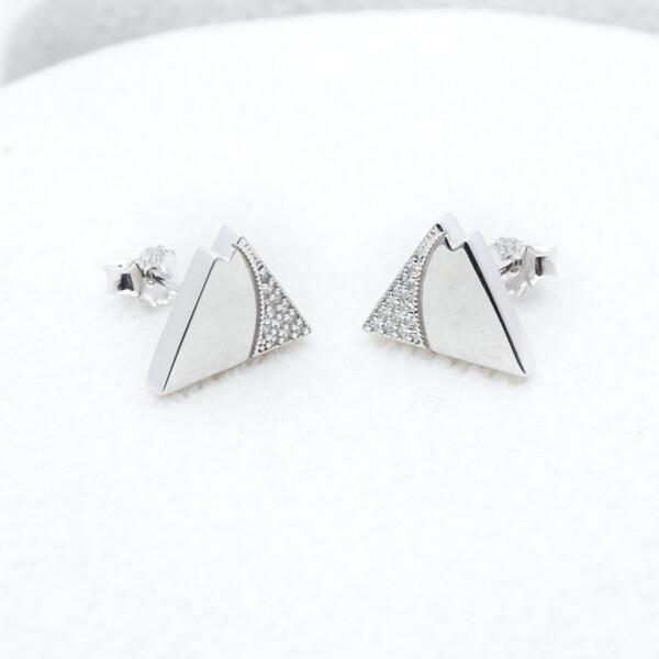 Closeup photo of Sterling Silver CZ Mtn Earrings