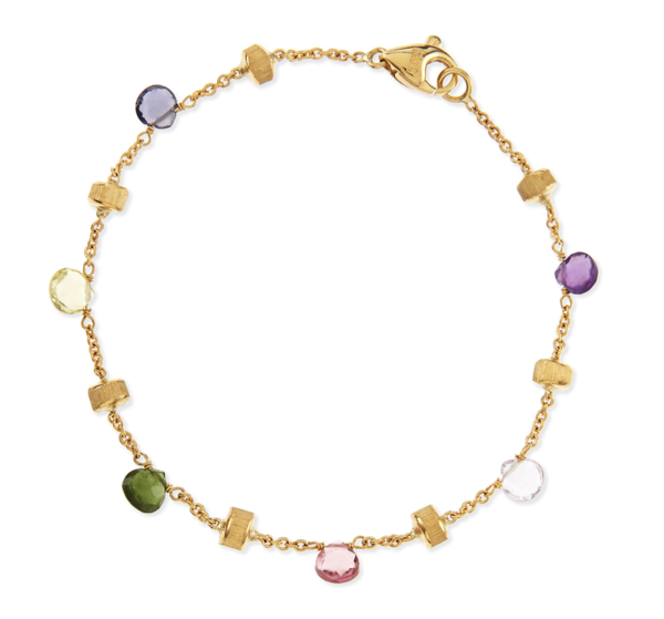 Closeup photo of Multi-Stone Yellow Gold Paradise Bracelet