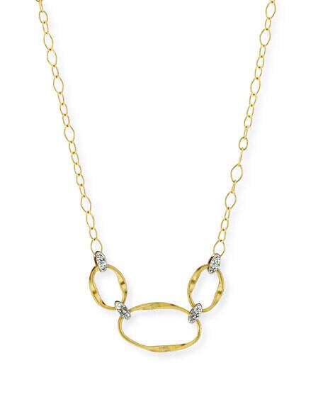 Closeup photo of Gold Marrakech Onde Necklace