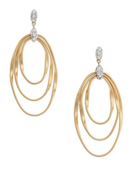 Closeup photo of Gold Marrakech Onde Earrings
