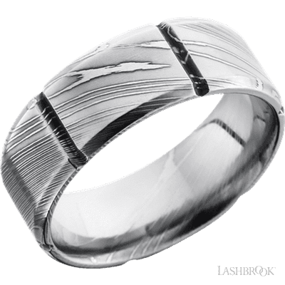 Closeup photo of Damascus ring