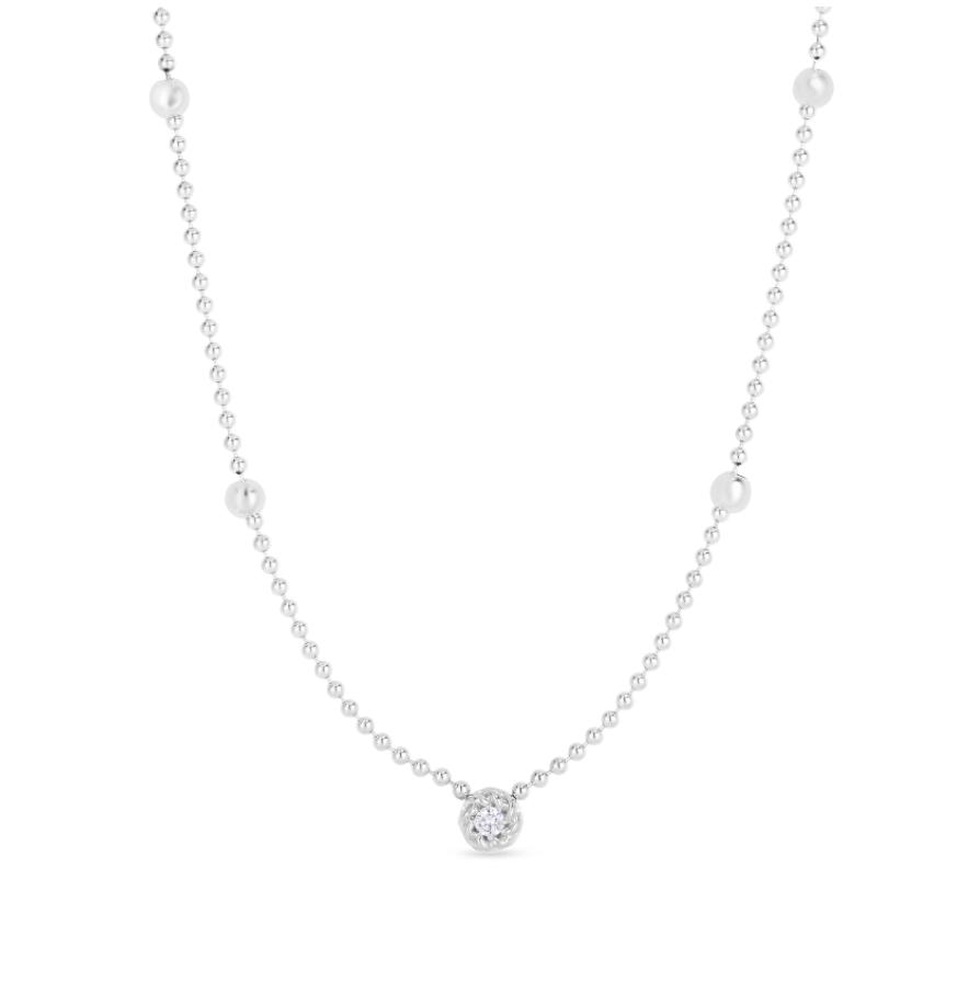 Alt bead chain bezel set .08ct diamond