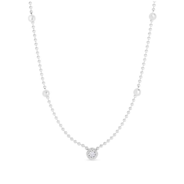 Closeup photo of Alt bead chain bezel set .08ct diamond