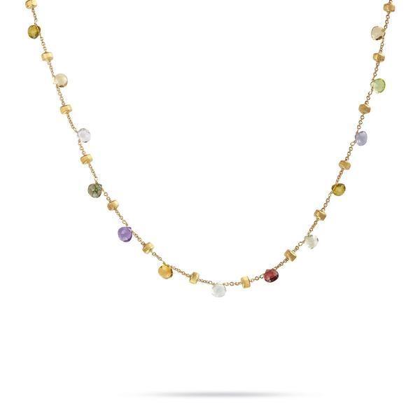 Closeup photo of 18K Yellow Gold & Mixed Stone Short Necklace