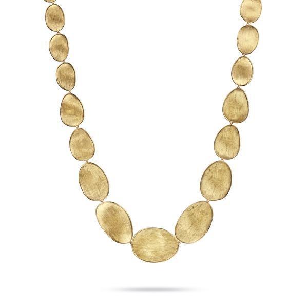 Closeup photo of 18K Yellow Gold Medium Graduated Collar Necklace