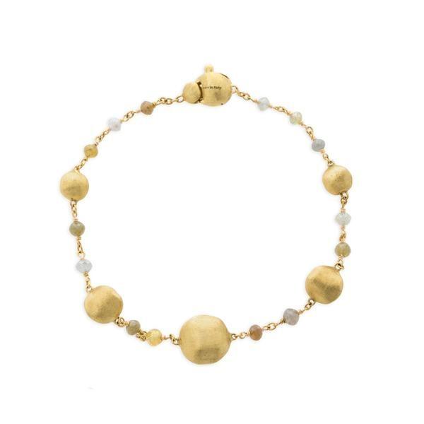 Closeup photo of 18K Yellow Gold Rough Diamond Bracelet