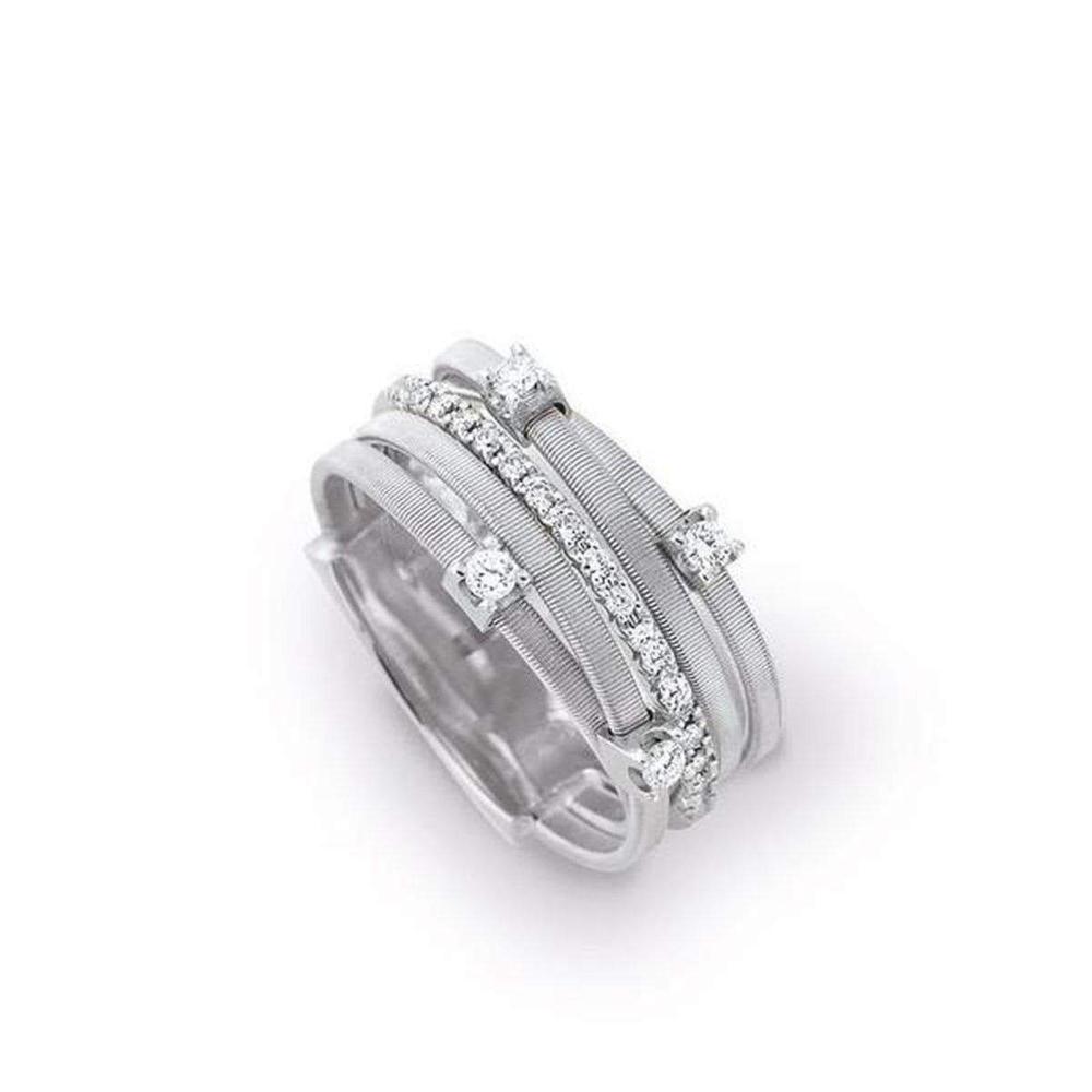 Goa Five-Strand Ring 18K Gold with Diamonds