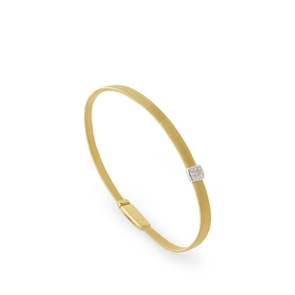 Closeup photo of Masai Single-Station Bracelet 18K Gold with Diamonds