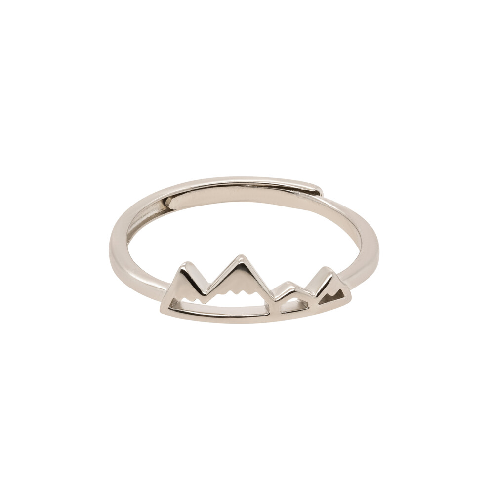 Sterling Silver Mountain Ring - Adjustable