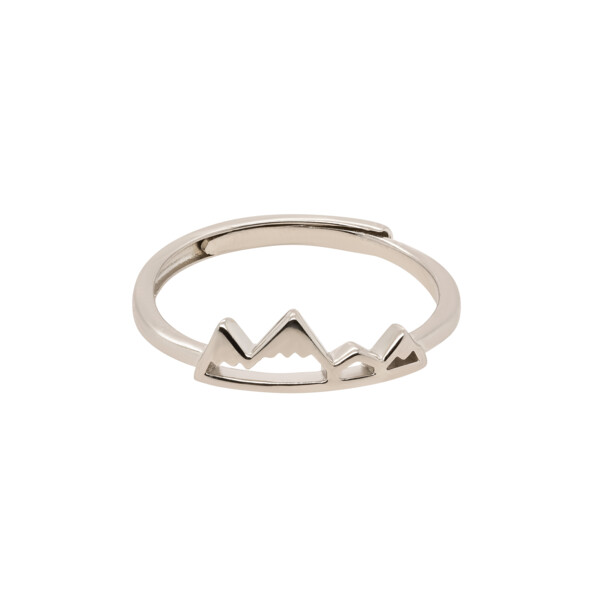 Closeup photo of Sterling Silver Mountain Ring - Adjustable