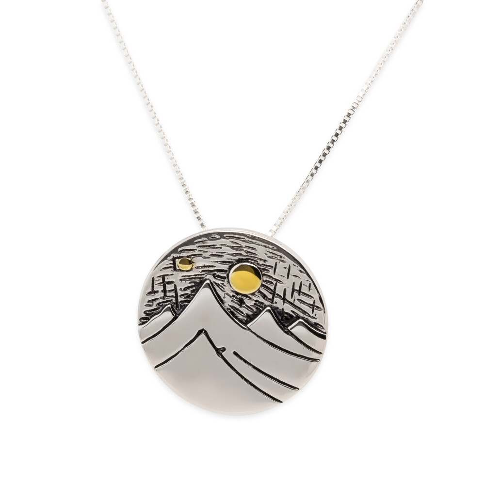 Mountain Day SS/Gold Plated Pendant-LG