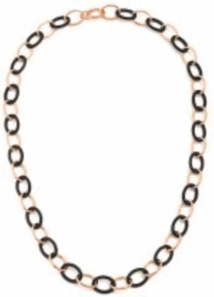 Closeup photo of Link Polvere necklace