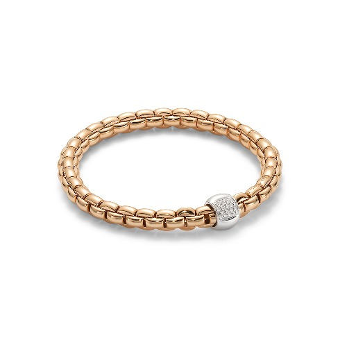 Closeup photo of Eka Flex'it Bracelet in Rose Gold with Diamonds size Medium