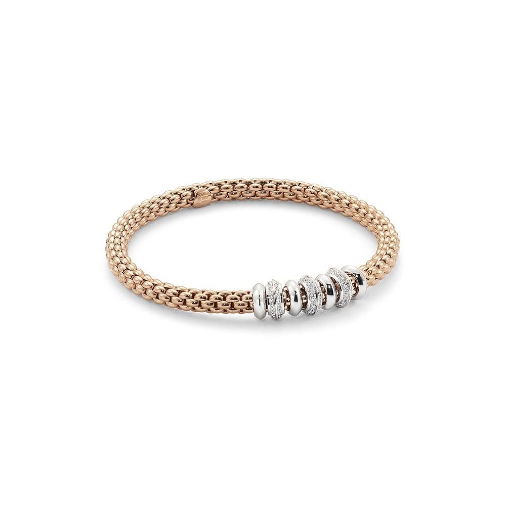 Image 2 for Stretch Fope Bracelet With Diamonds