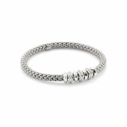 Closeup photo of Stretch Fope Bracelet With Diamonds