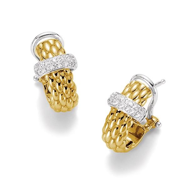 Closeup photo of Vendome Earrings with Diamonds