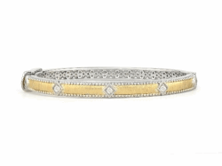 Closeup image for View Skinny Crivelli Diamond Bangle By Armenta