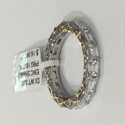 18k yellow gold and blackened sterling silver wide crivelli bangle with white diamonds.  Diamond Weight 0.224 ct.