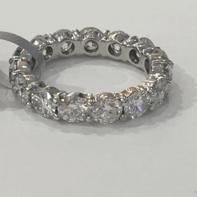 18k yellow gold and blackened sterling silver Gypsy crivelli stack ring with black and white diamonds.  Diamond Weight 0.4 ct.