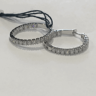Yellow cable and Grey cable, 18kt. White Gold, 0.16    total carat weight. Diamonds w/stainless steel. Imported. - 04-34-S551-11
