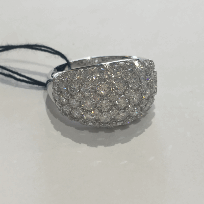 Black cable and yellow cable, 18 karat White Gold, 0.05     total carat weight Diamonds with stainless steel. Imported. - 02-58-0321-11