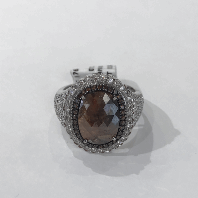 Black cable, 18kt. White Gold, 0.22    total carat weight. Diamonds w/stainless steel. Imported. - 03-52-0718-11