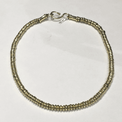 Yellow cable, 18 karat White Gold, 0.14     total carat weight Diamonds with stainless steel. Imported. - 04-37-S142-11