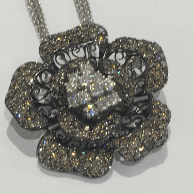 Yellow cable 3 row 1.6mm, 18 karat White Gold, 0.21     total carat weight Diamonds and stainless steel. Imported. - 04-37-S354-11