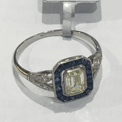 18 karat White Gold and Diamonds 0.15     total carat weight. Imported. - 02-08-0924-11
