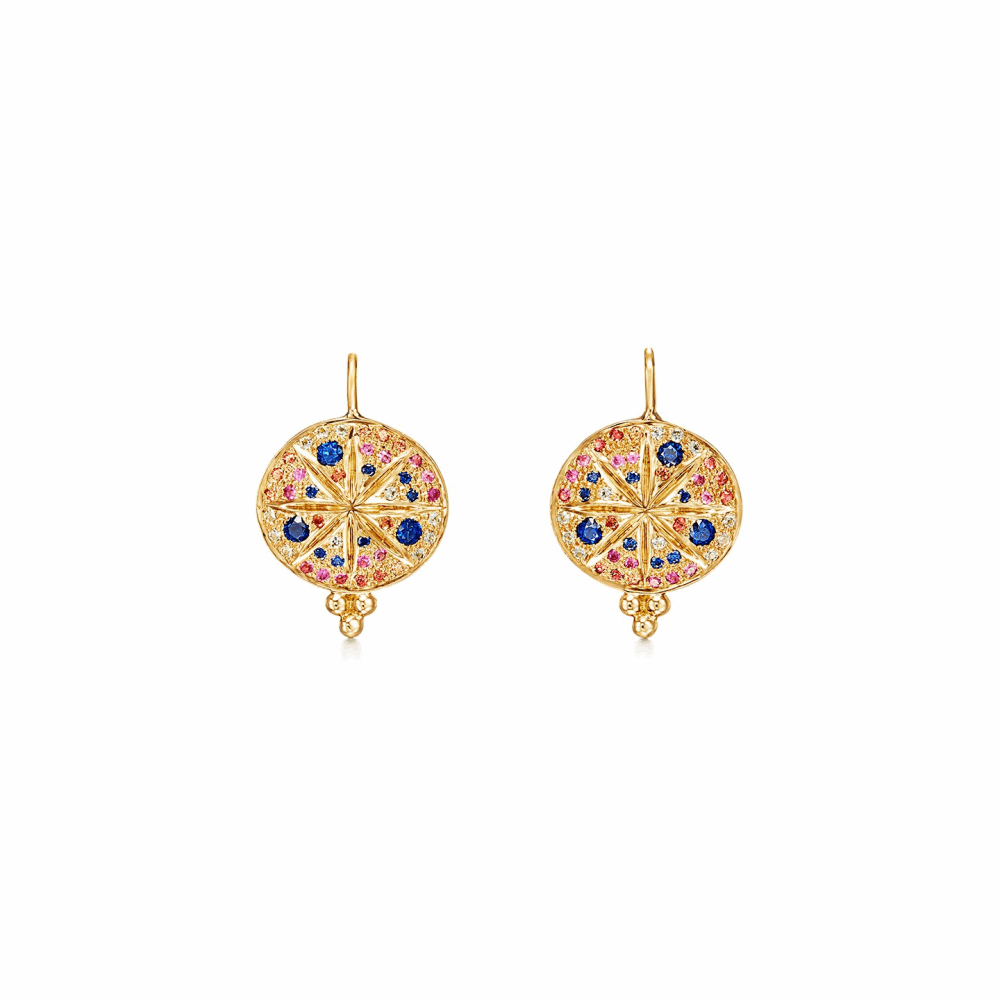 18k Yellow Gold Pave Sorcerer Earring