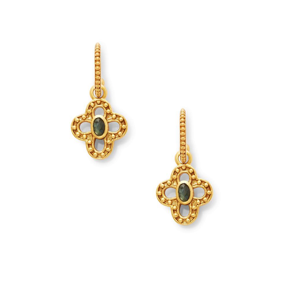 Image 2 for SoHo Hoop Gold Labradorite & Pearl