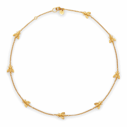 Closeup photo of Bee Delicate Necklace Gold