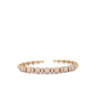 "A stunning handpicked Diamond Bracelet In Rose Gold Width 2.25"" Height 1.75"" by designer LaNae"
