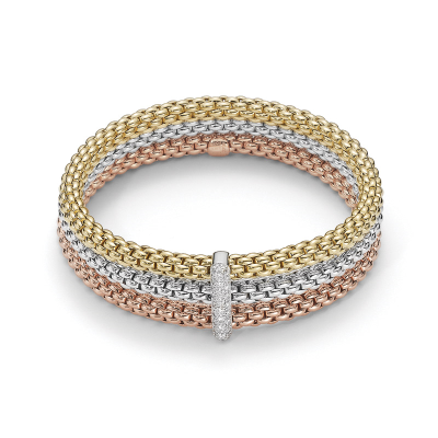 Solo Flex'it Triple Rope Bracelet with .34ct diamonds