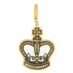 Closeup image for View Classic Crowned Heart Pendant By Cynthia Ann Jewels