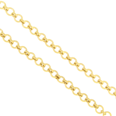 "33"" Yellow Gold Round Chain Necklace"