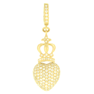 Beautifully Crowned Diamond Heart Pendant