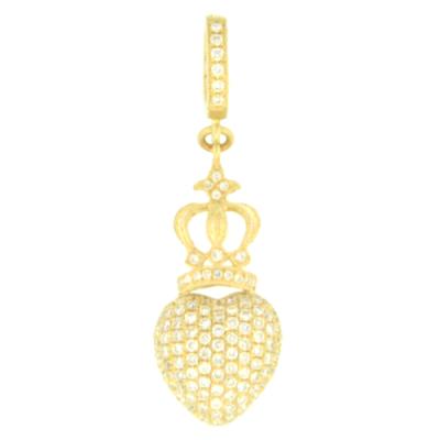 Beautifully Crowned Diamond Heart Pendant